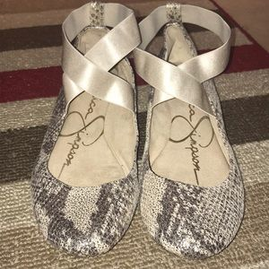 Jessica Simpson Snake Patent Ballet Flats Size 8M